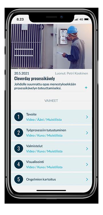 Gemba -kävely mobiililaitteessa